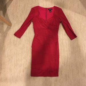 Deep Red Bodycon Dress